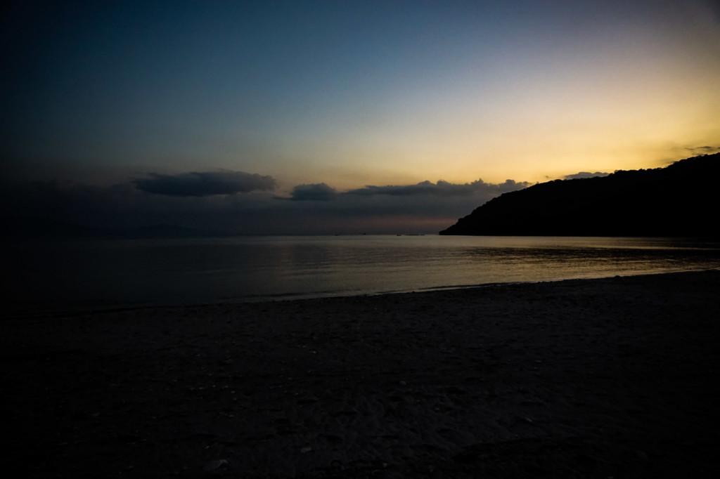 Sun set over Bloodstone Beach on Corregidor Island.