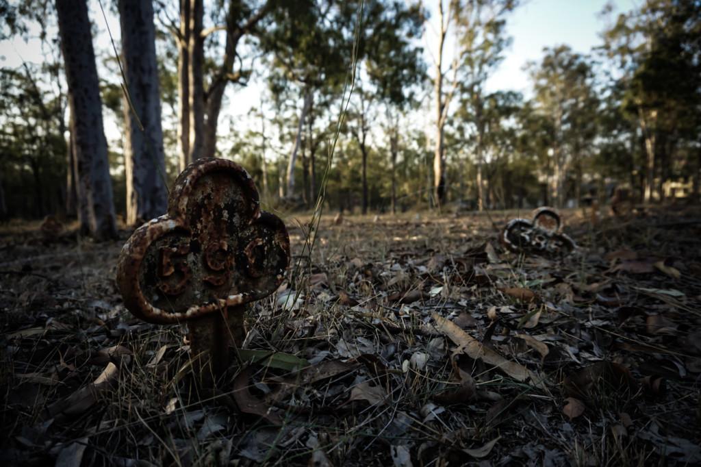 Ghosts of Goodna Cemetery in Queensland, Australia.
