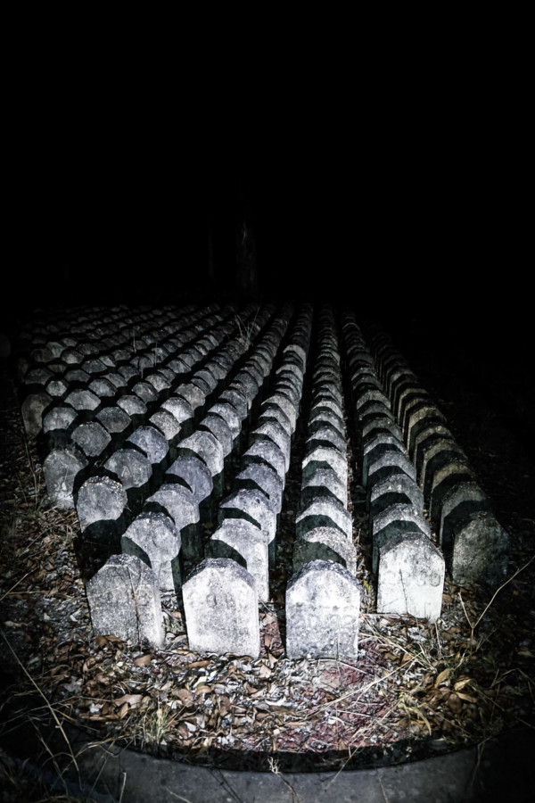 Grave markers for mental patients at the Goodna Cemetery.
