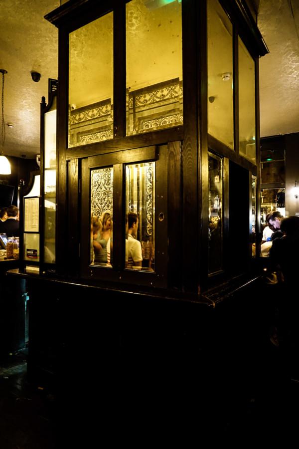 Inside the spooky Ten Bells Pub.