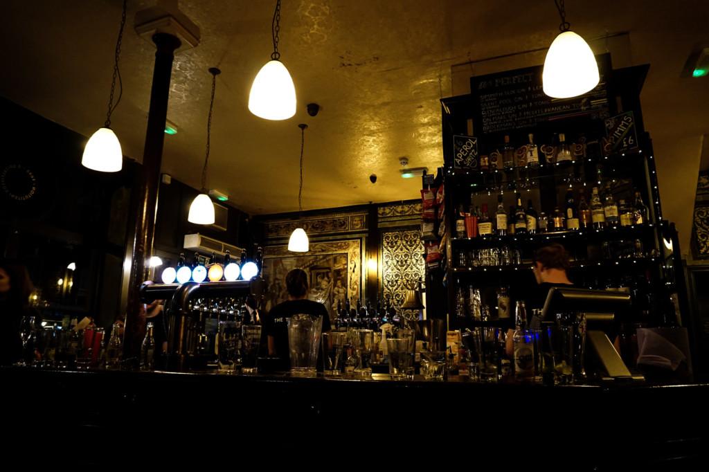 Ten Bells Pub haunted bar.