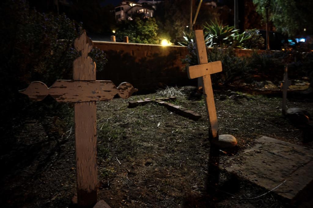 Graves in El Campo Santo Cemetery, San Diego.
