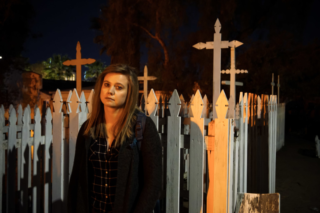 Haunted cemetery in San Diego.