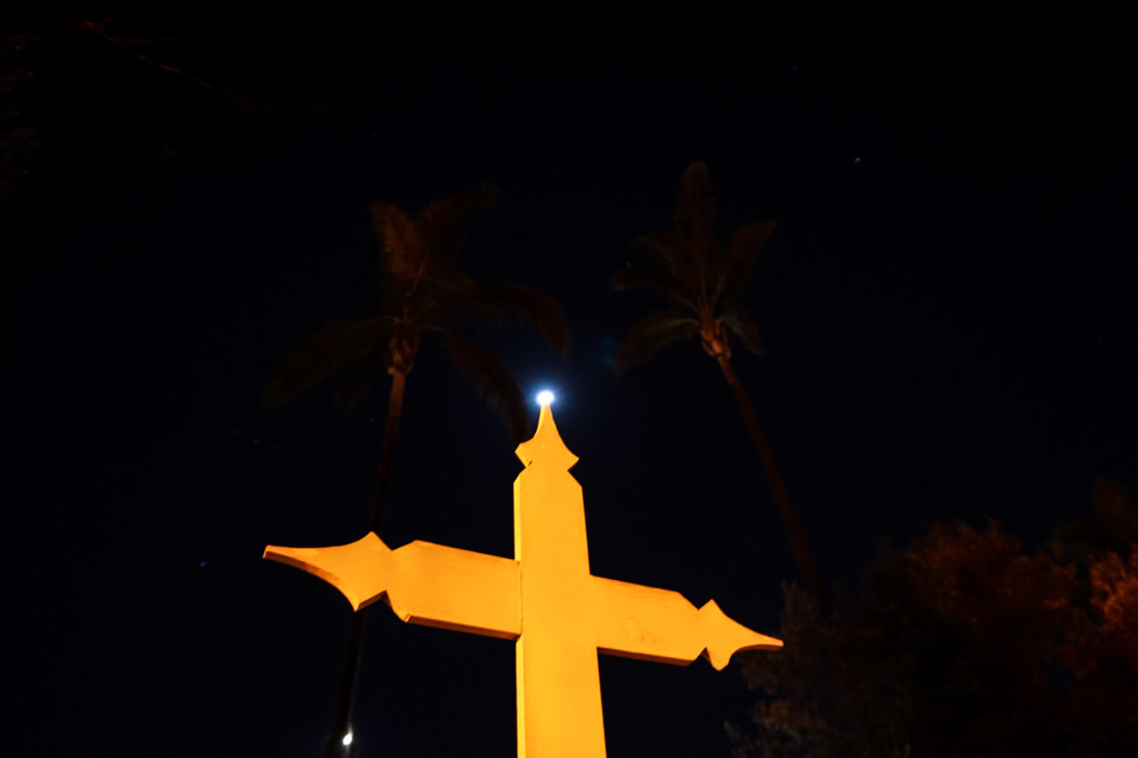 Moon over El Campo Santo Cemetery.