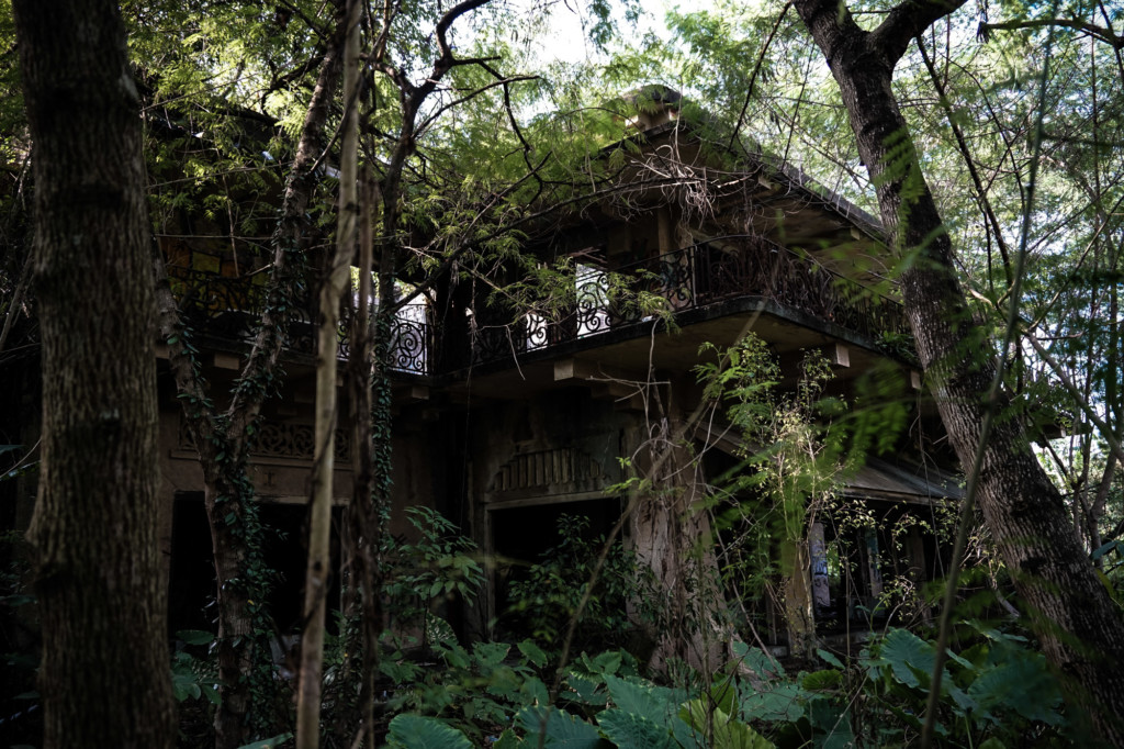 Abandoned mansion in Singapore jungle.