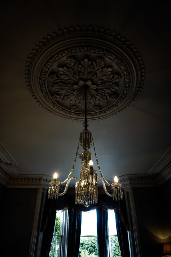 Chandelier in the bar of the haunted mansion.