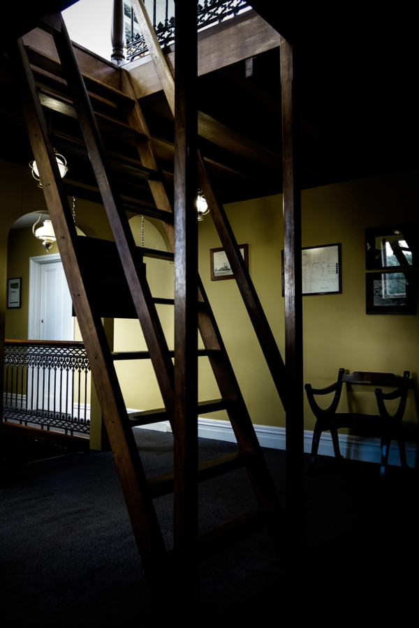 Stairs leading up to the turret.