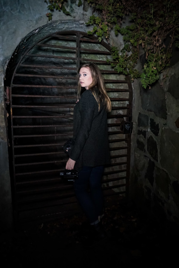 Looking for the ghost of Edward in Princes Park's haunted tunnel.