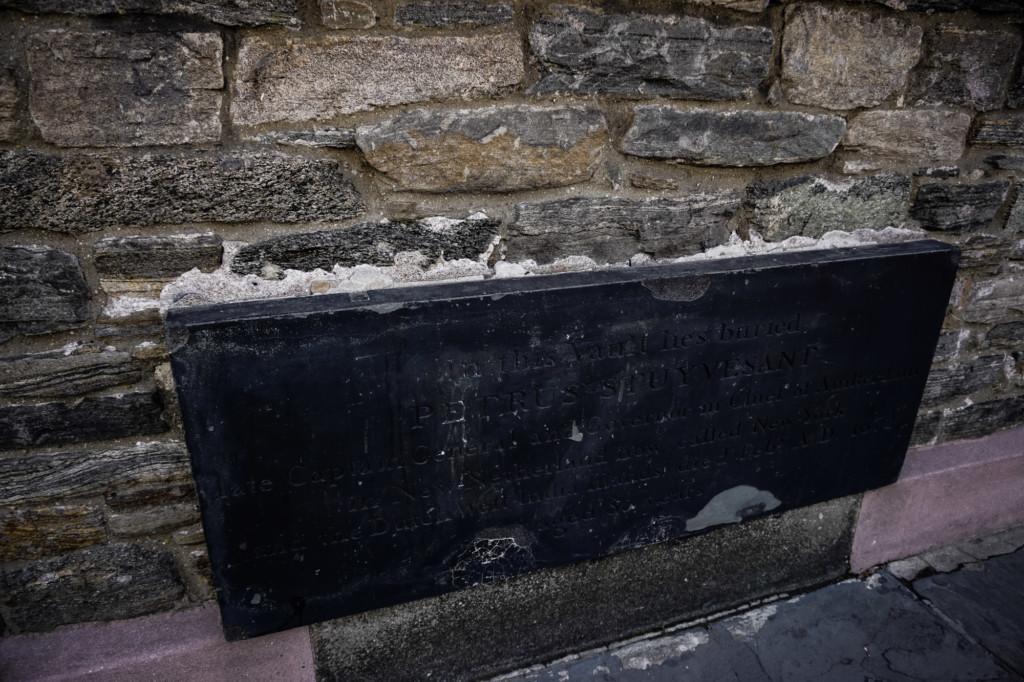 Petrus Stuyvesant burial vault in St. Mark's Church, New York.