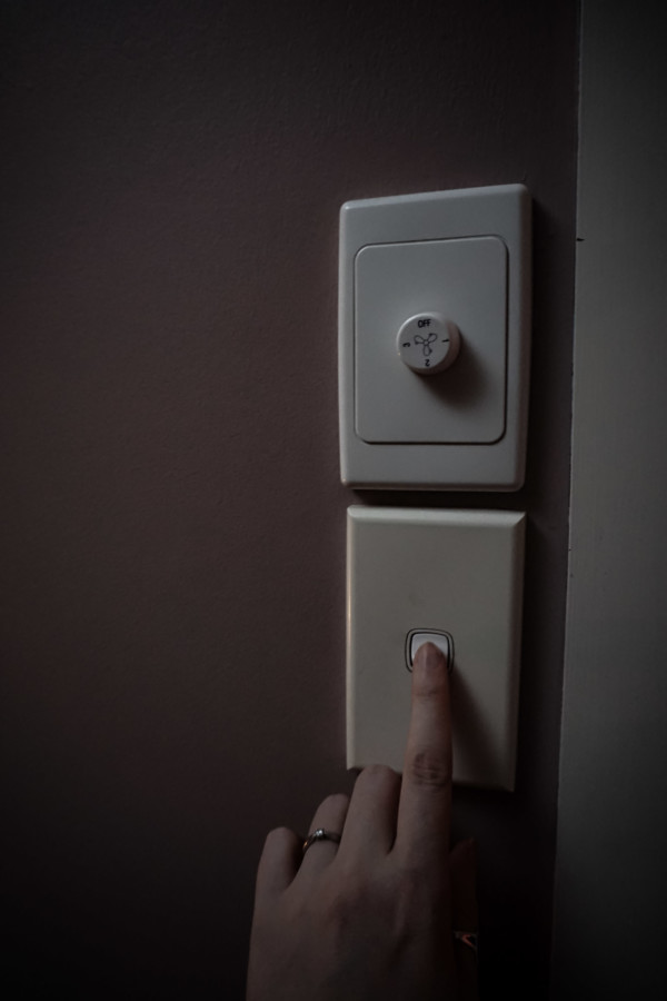 Turn off lights to play paranormal game.