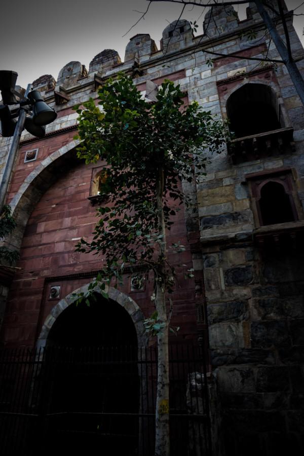 Haunted gate in Delhi, India.