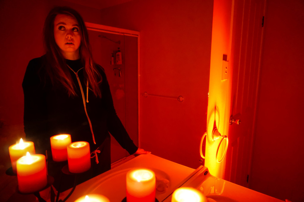 Playing one of the scariest paranormal games.
