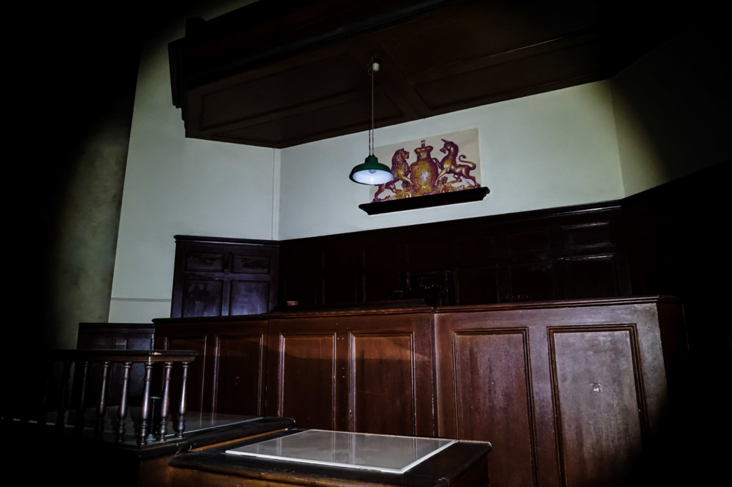 Haunted courtroom at the Hobart Convict Penitentiary.