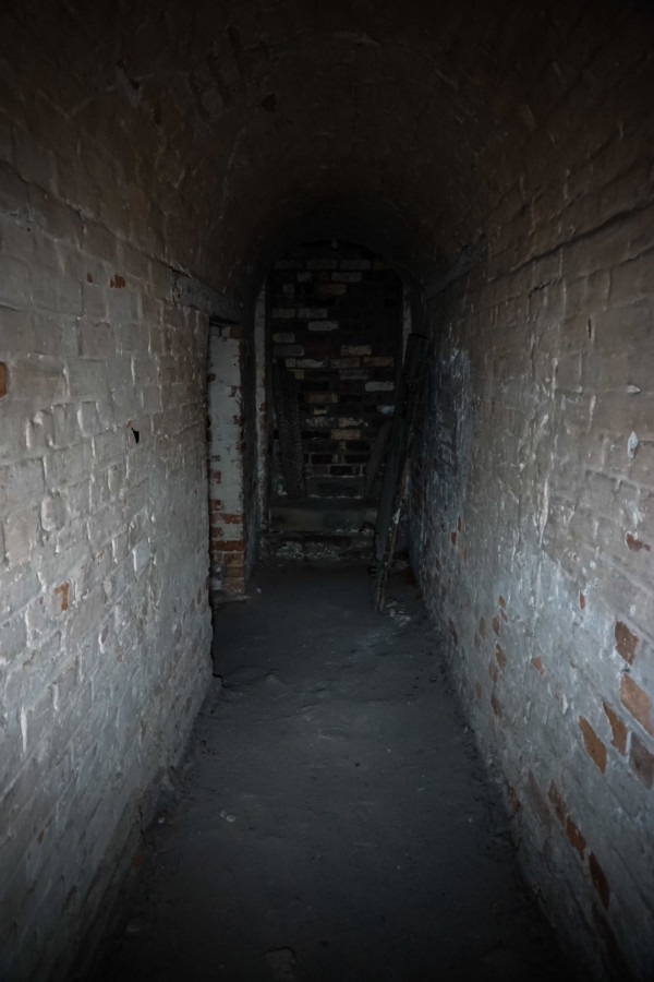 Underground solitary confinement cells.