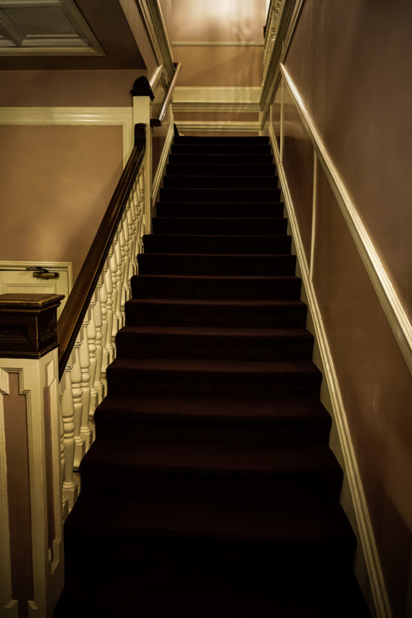 Haunted stairs in Monterey, California.