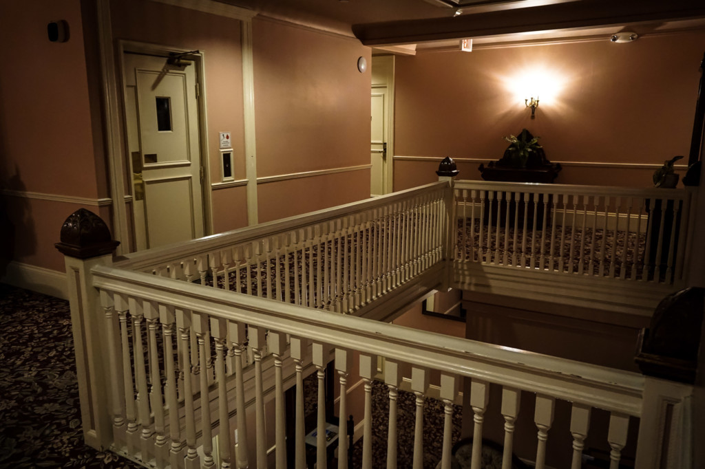 Haunted hotel in Monterey.