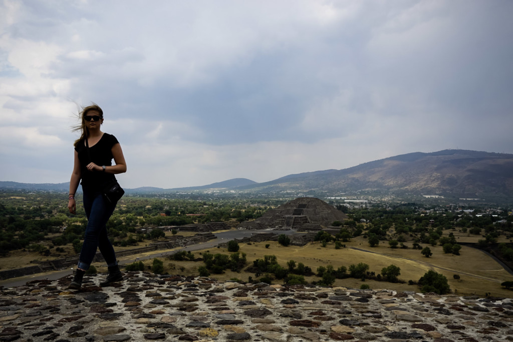 Exploring an ancient lost city and its pyramids in Mexico, Teotihuacan.