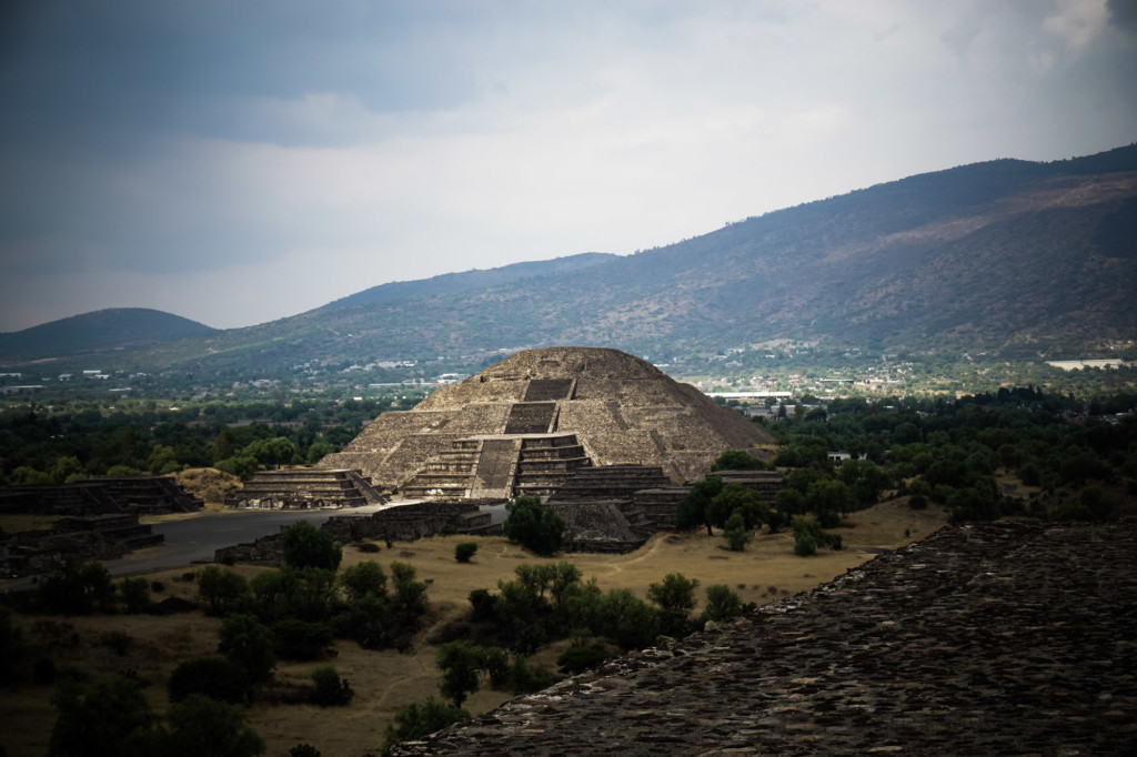 Pyramid of the Moon at Teotihuacan, believed to contain a portal to the Underworld.