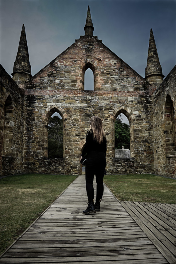 Haunted church ruin Port Arthur.