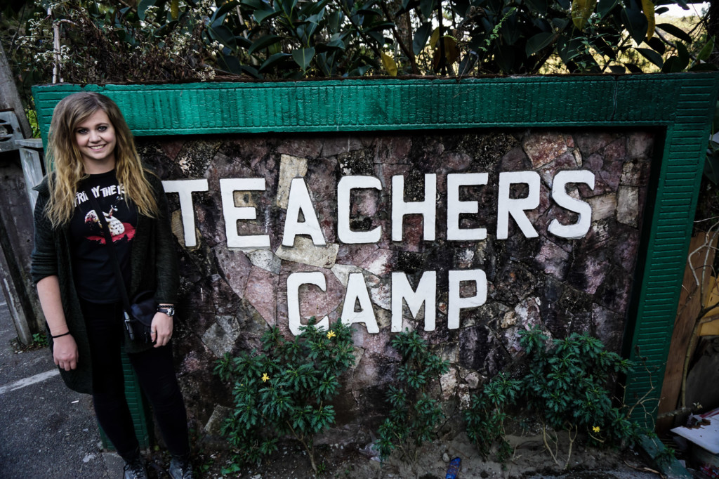 Visiting the Teacher's Camp, Baguio.