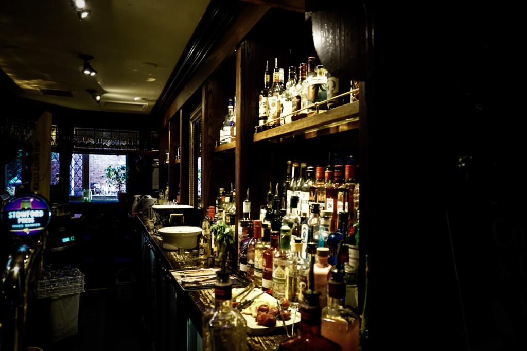 Haunted bar inside pub of York, England.
