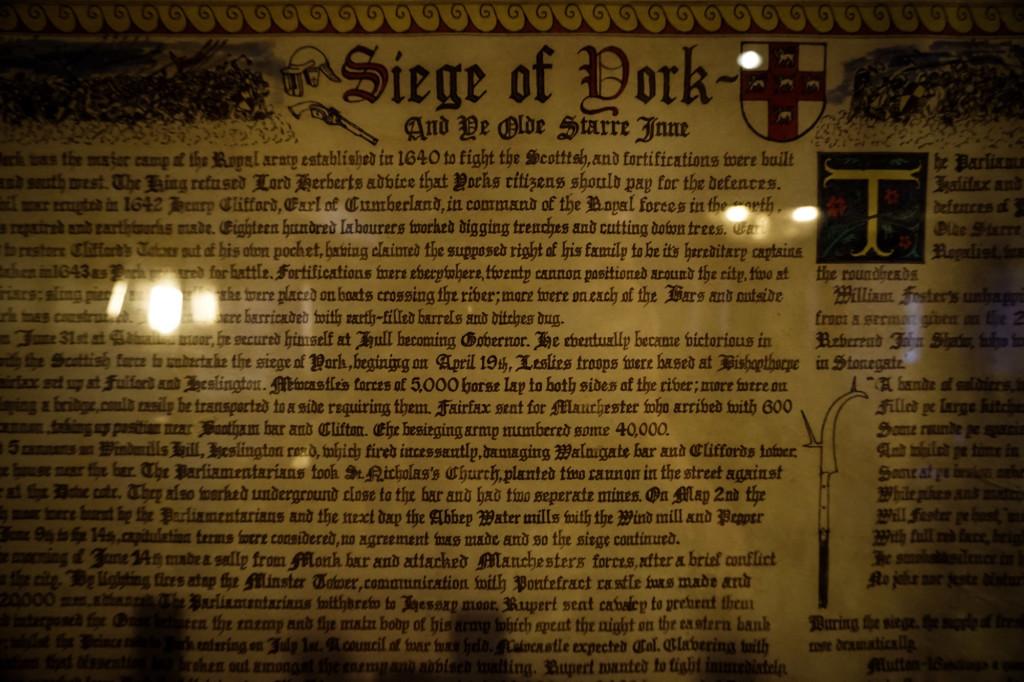 Historic haunted pub in York, England.