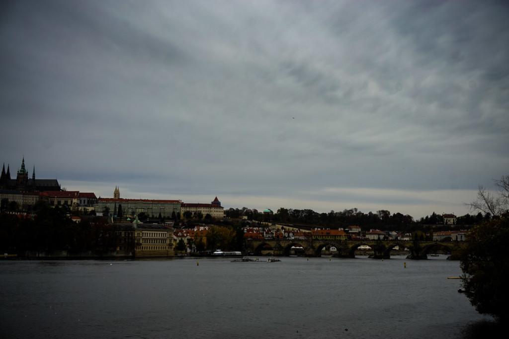 Views from Prague bridge.