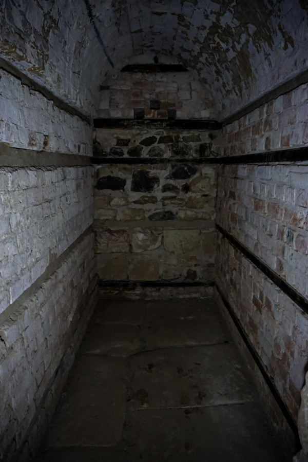 Underground haunted cells in Australia.