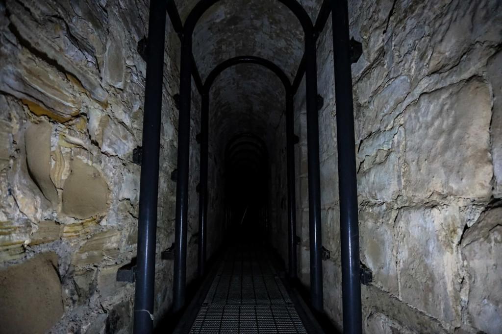 Underground solitary confinement cells in Tasmania, Australia.