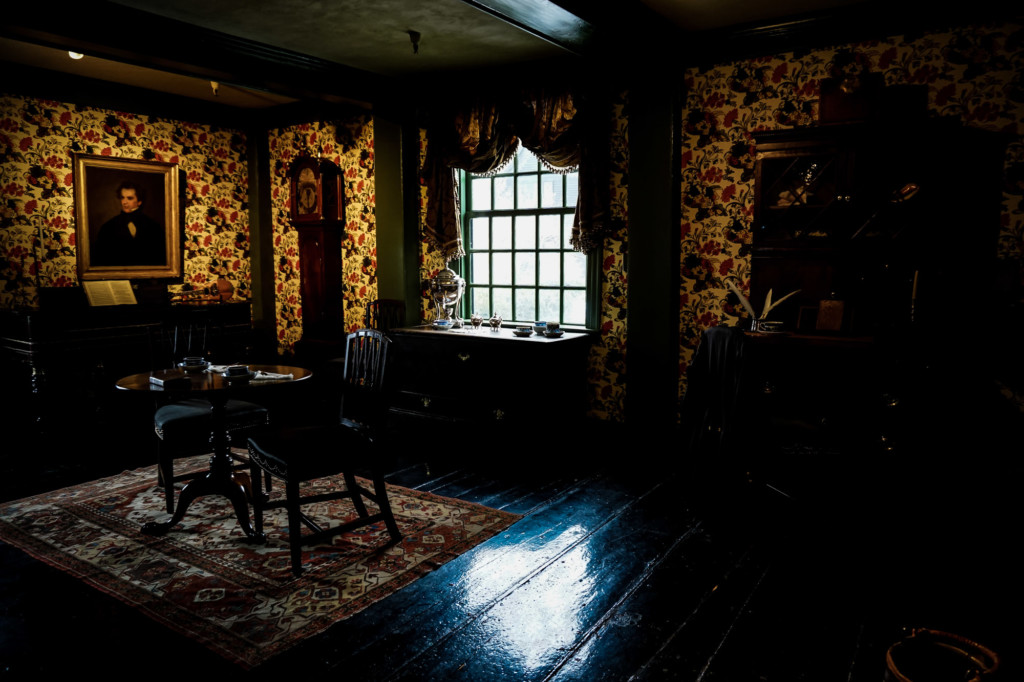 Inside the House of the Seven Gables.