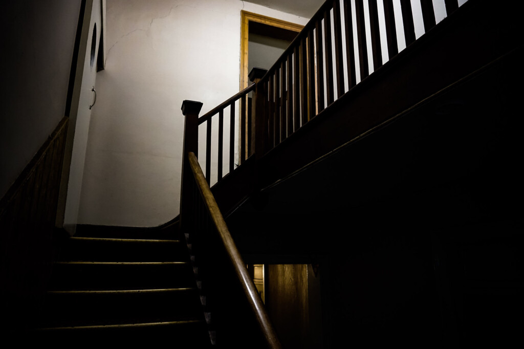 Haunted stairs in Bush Inn.