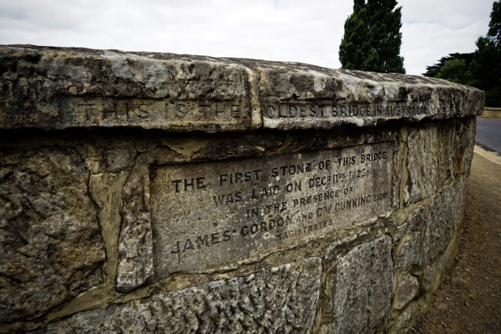 The stone bridge in Richmond, Tasmania.