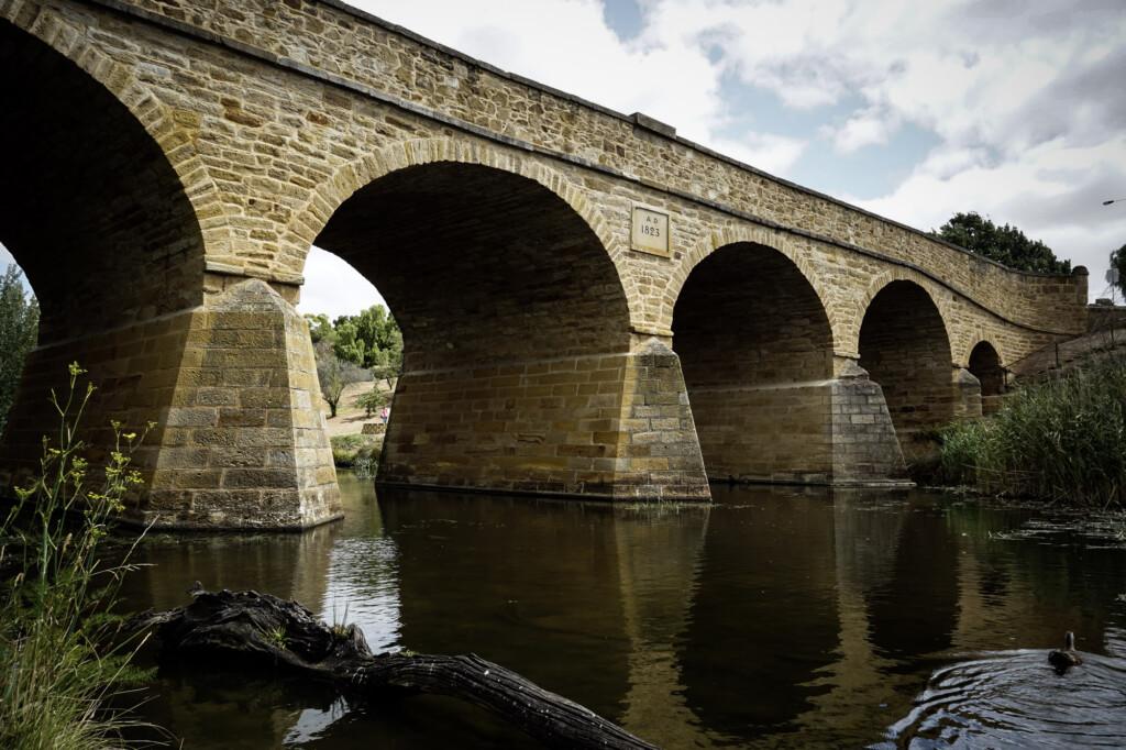 Richmond Bridge built by convicts in Tasmania.