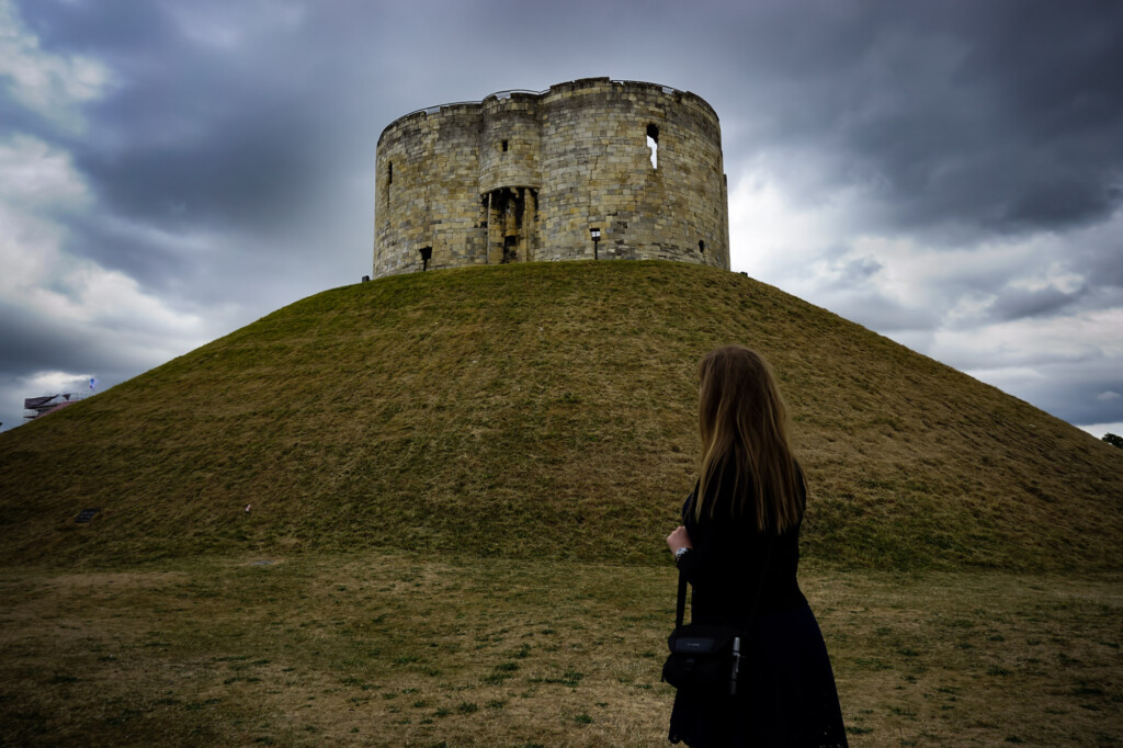 Haunted Clifford's Tower in York, England.