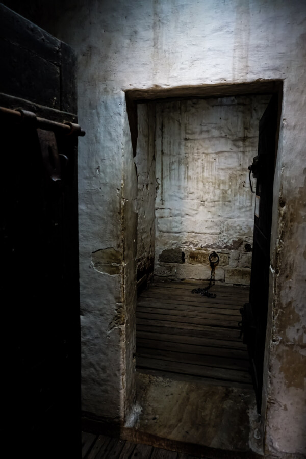 Punishment cell at Richmond Gaol, Australia.