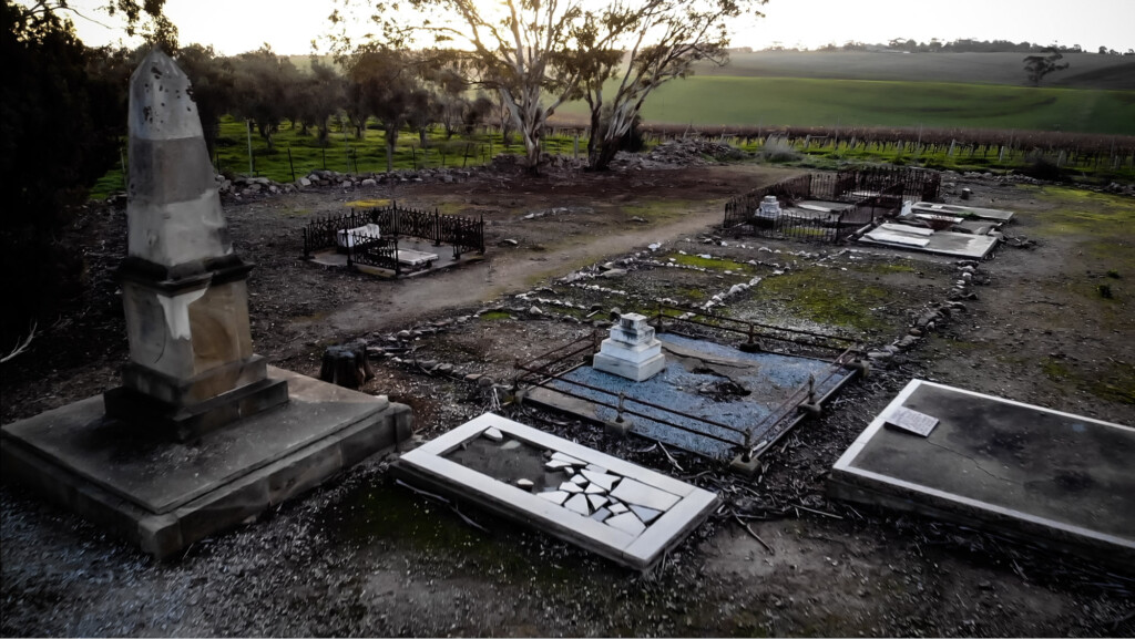 Haunted graveyard in South Australia, Uley Road cemetery.