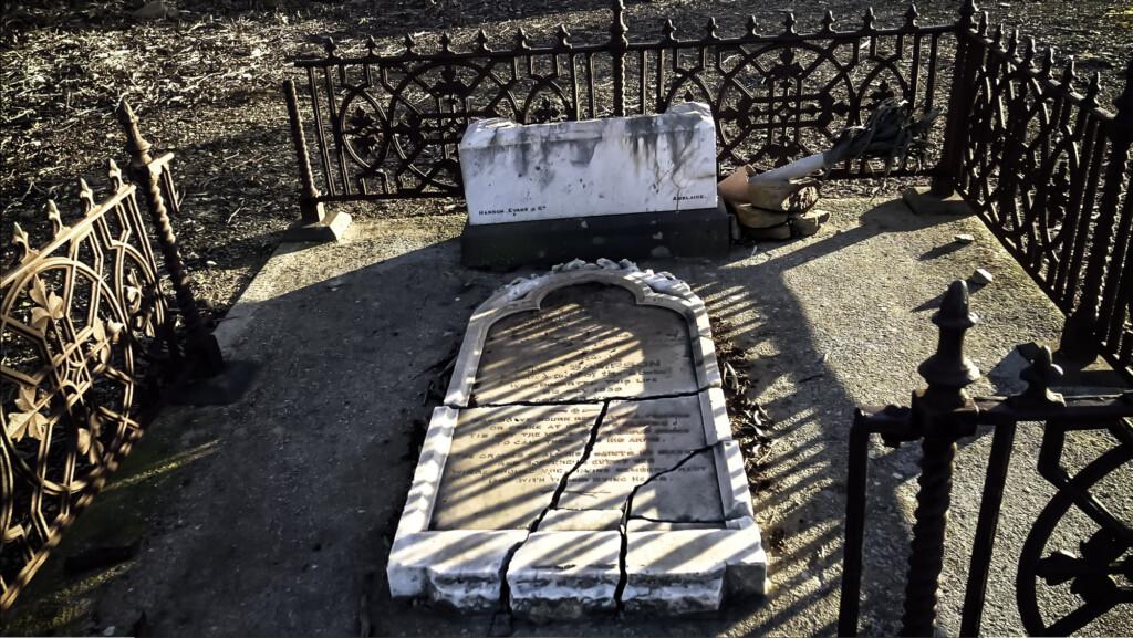 Broken tombs stone.