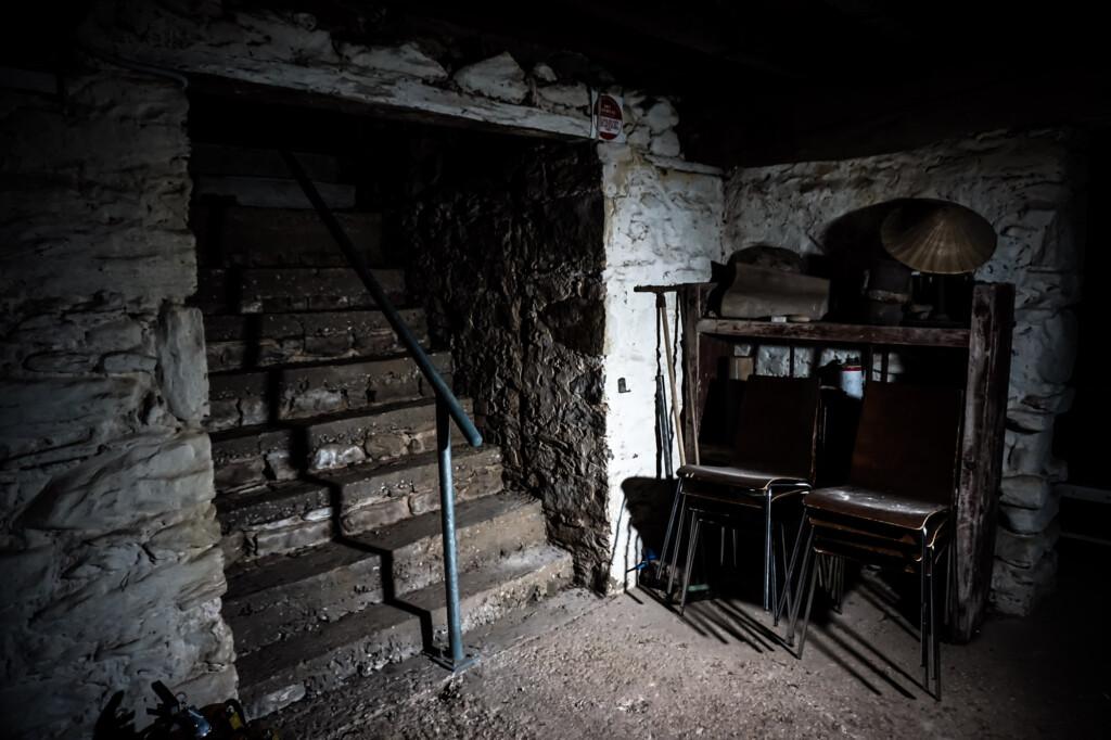 Haunted cellar at Glenbarr.