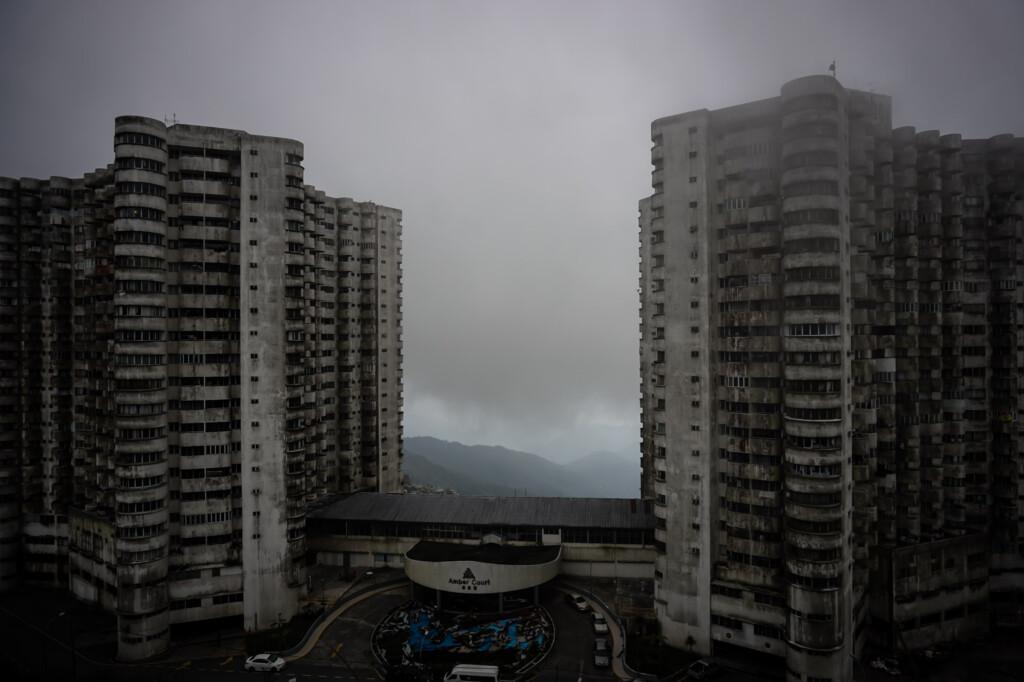 Amber Court haunted apartment complex.