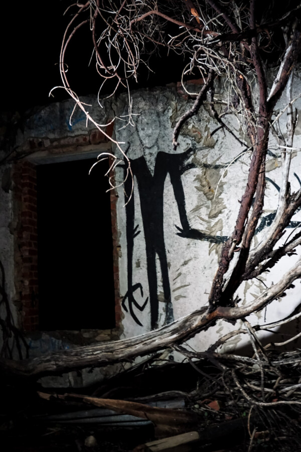 Slenderman haunted house.