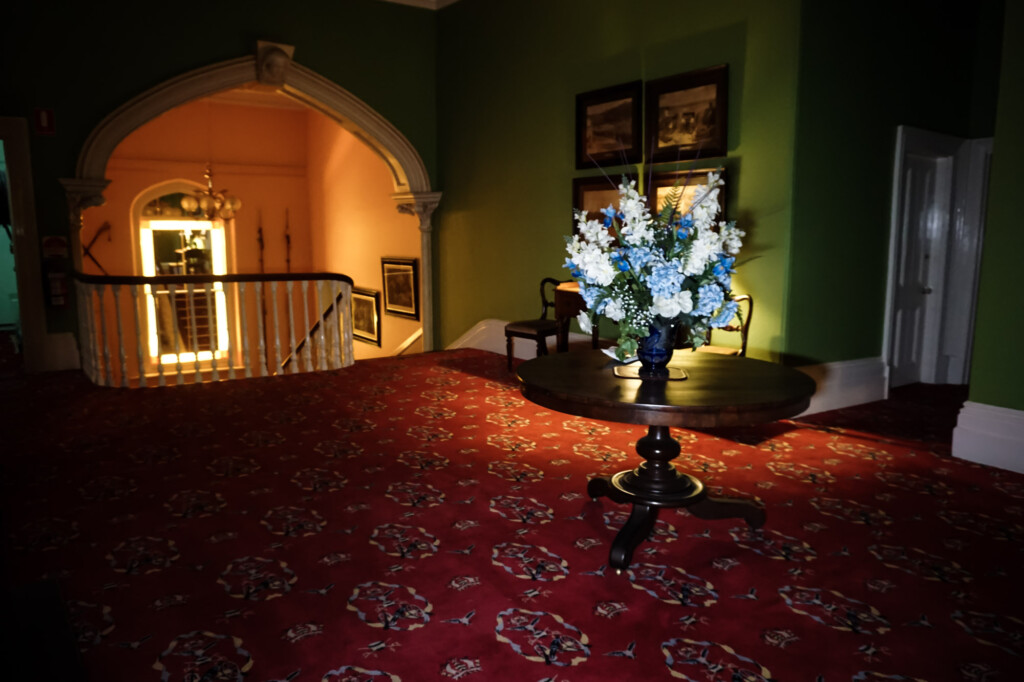 Ghost of woman inside historic mansion.