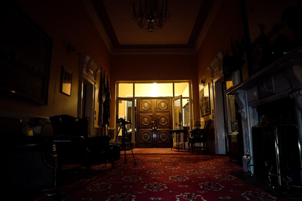 Mansion's lobby.