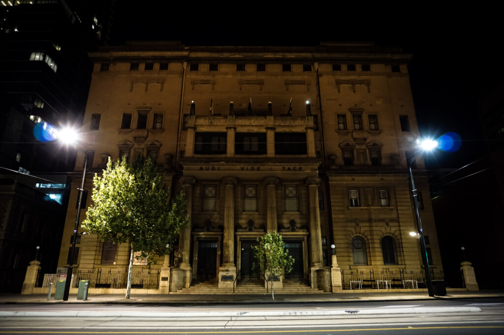 Grand Lodge of the Freemasons building Adelaide, South Australia.