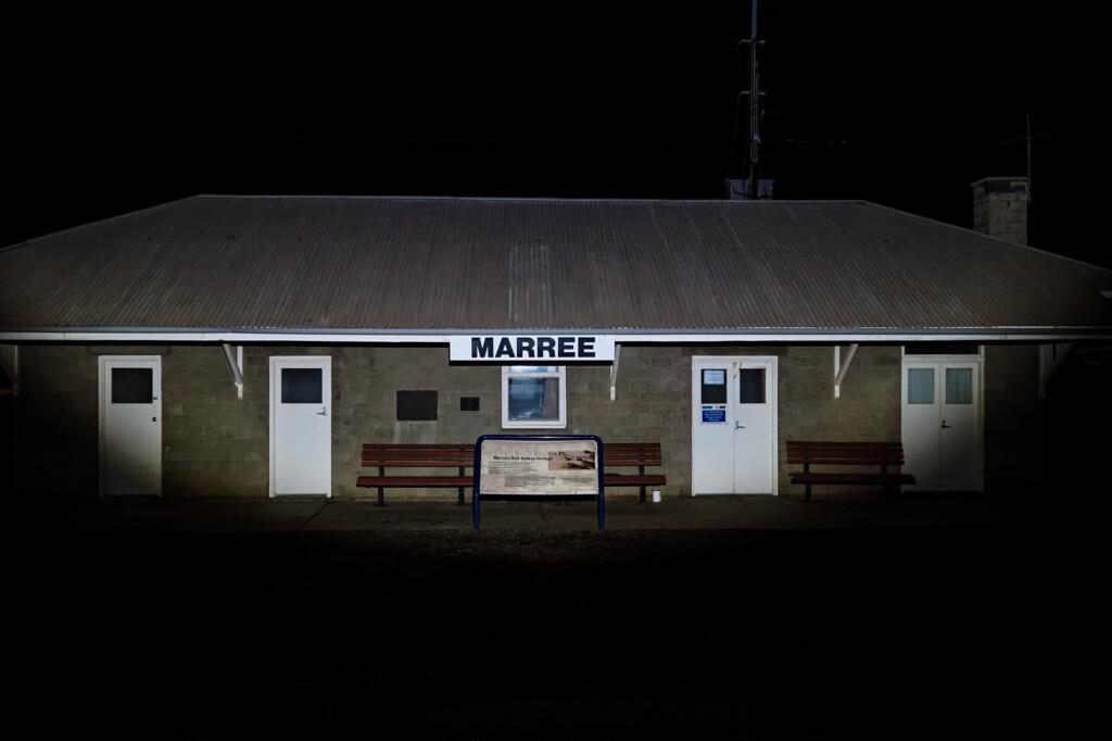 Marre railway station in Australian Outback.