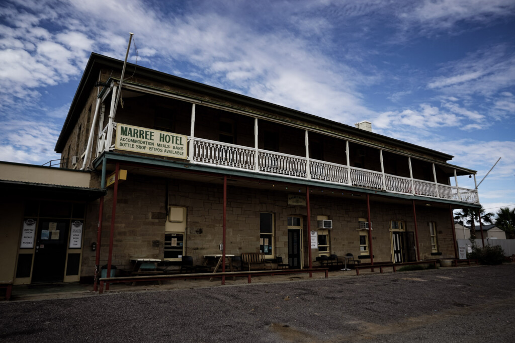 The Marree Hotel in South Australia is haunted.