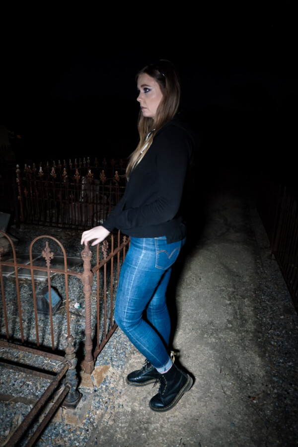 Looking for child spirits in a haunted cemetery.