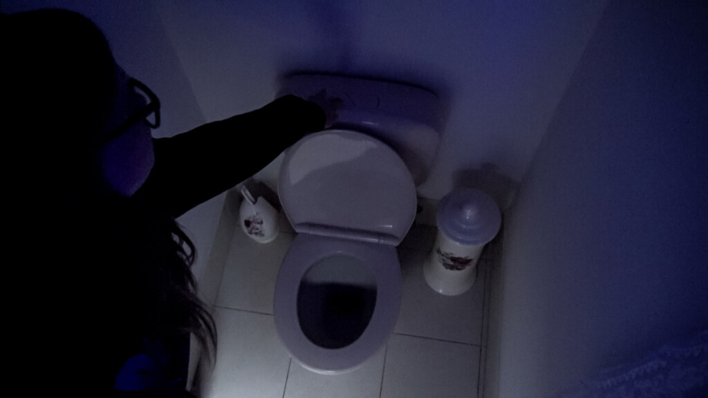 Flushing Baby Blue down the toilet.