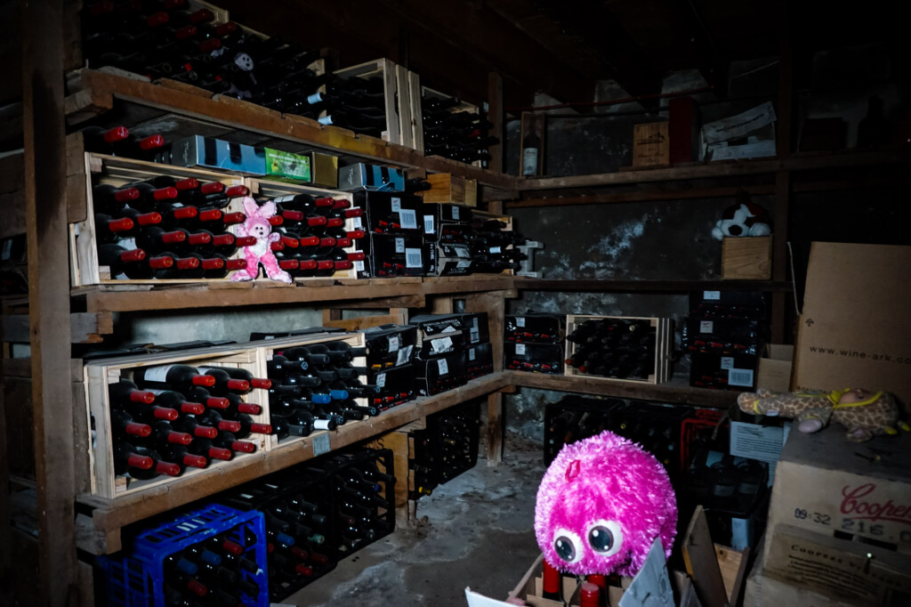 Toys in haunted basement morgue.