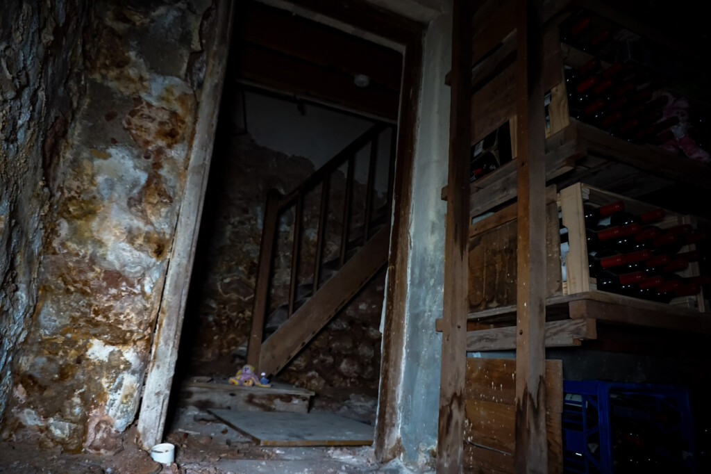 Morgue in basement of the haunted Cornwall Hotel in Moonta, South Australia.