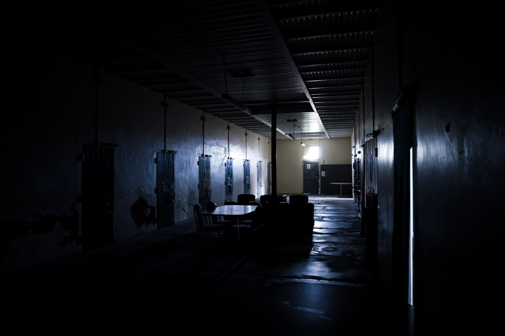 Women's cellblock in Gladstone Gaol.
